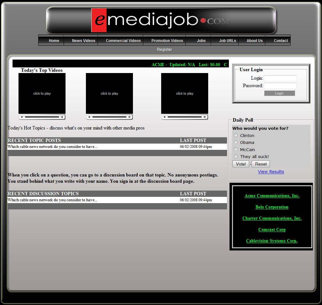 eMedia Job